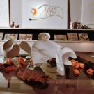 Bato | Orso in ceramica, Leone in resina e Tigre su tela