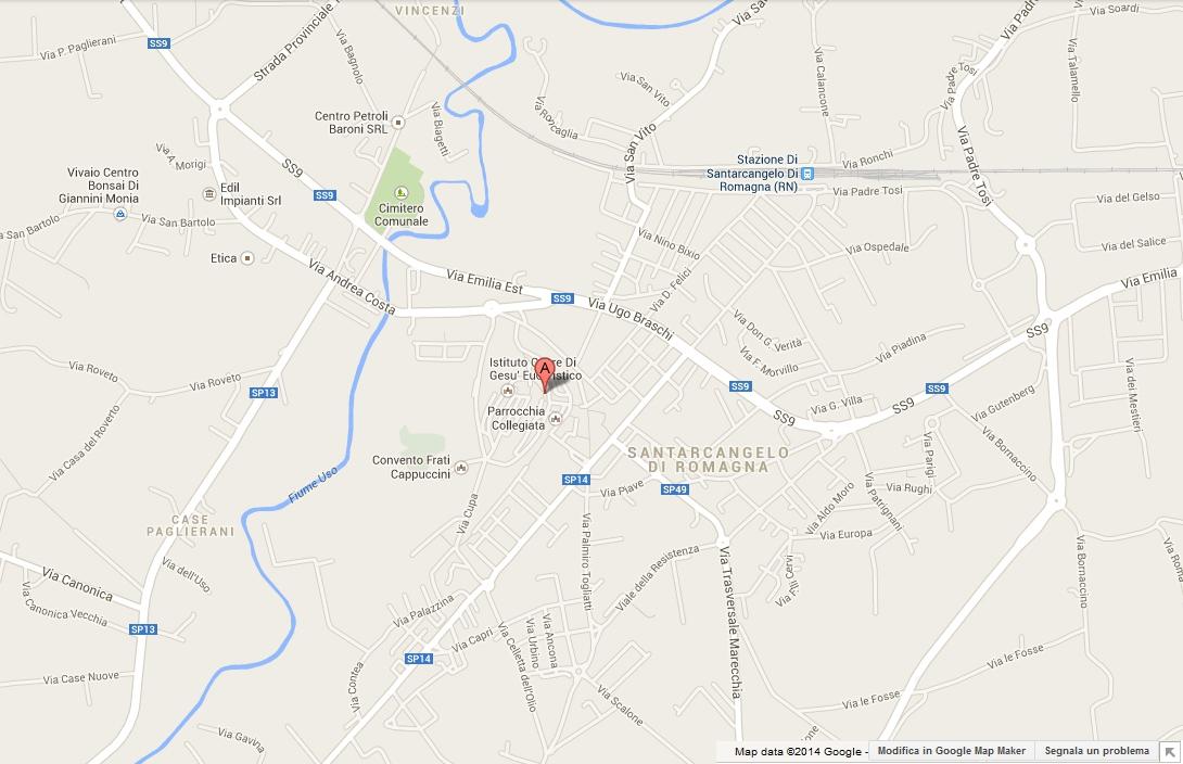 Via della Costa 15, Santarcangelo di Romagna - click for directions from Google Maps