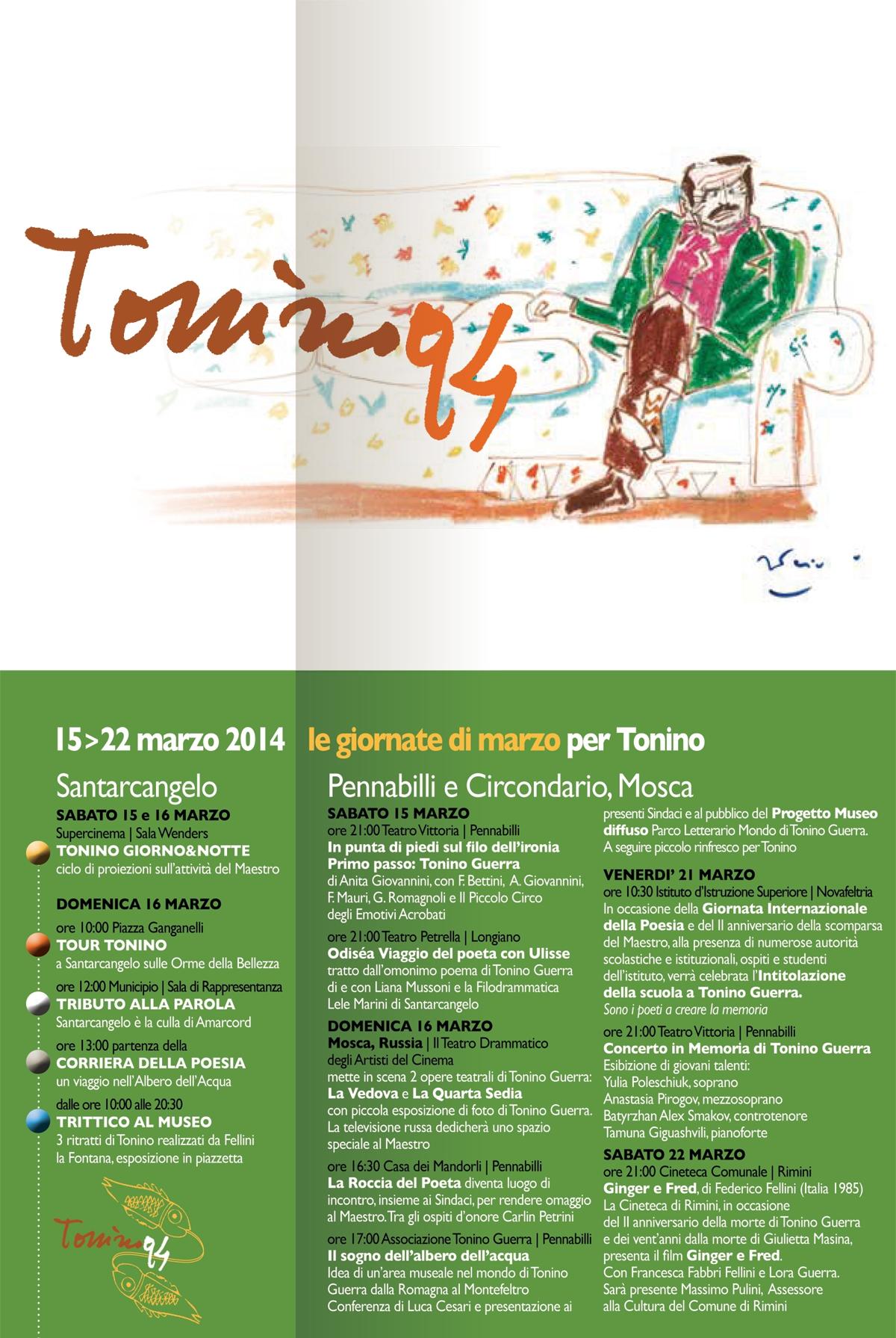Le giornate di marzo per Tonino, clicca per vedere il programma integrale sul pieghevole PDF